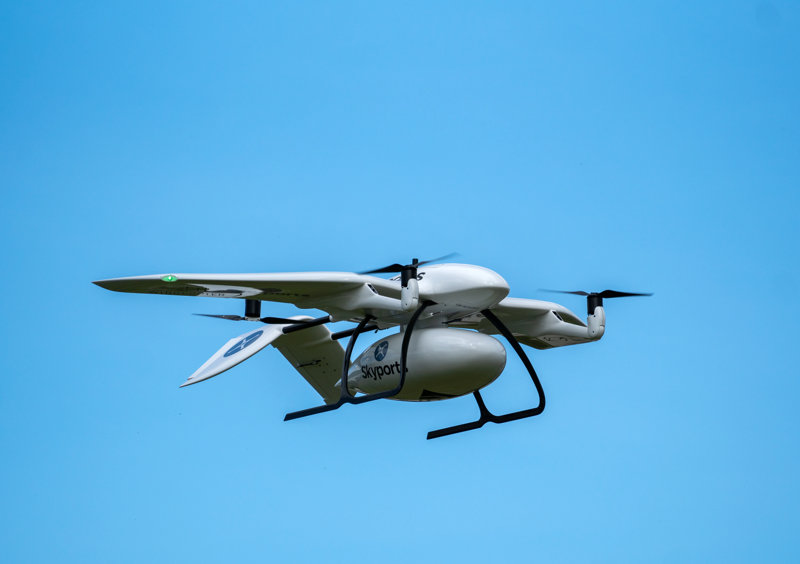 Skyports-delivery-drone-manufactured-by-Wingcopter-in-flight-small